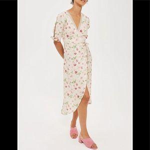 Topshop Floral-print Jacquard Dress